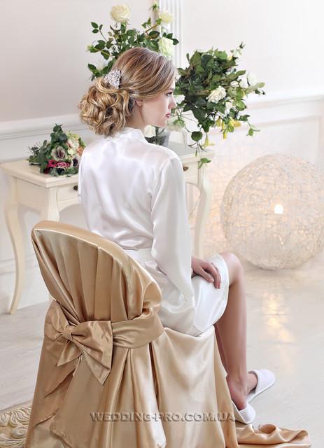 УТРО НЕВЕСТЫ - халатик невесты и накидки на стул