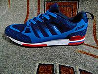 Мужские повседневные кроссовки Adidas ZX 750 Flyknit 2015 синие 39-45, фото 1