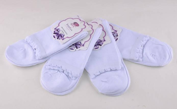 Женские носки однотонные Белый (B306-1) | 12 пар, фото 2