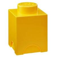 Одноточечный желтый контейнер для хранения Lego PlastTeam 40011732, фото 1