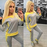 Красивый женский спортивный костюм из двухнитки n-310595