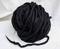 Крупная пряжа из шерсти мериноса черная