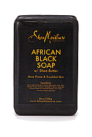 Черное африканское мыло Shea Moisture. Для проблемной кожи.