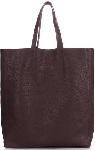 Оригинальная женская кожаная сумка POOLPARTY city-brown