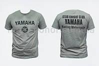 """Футболка   """"YAMAHA""""   (size:L, mod:Club, 100% хлопок, серая)"""