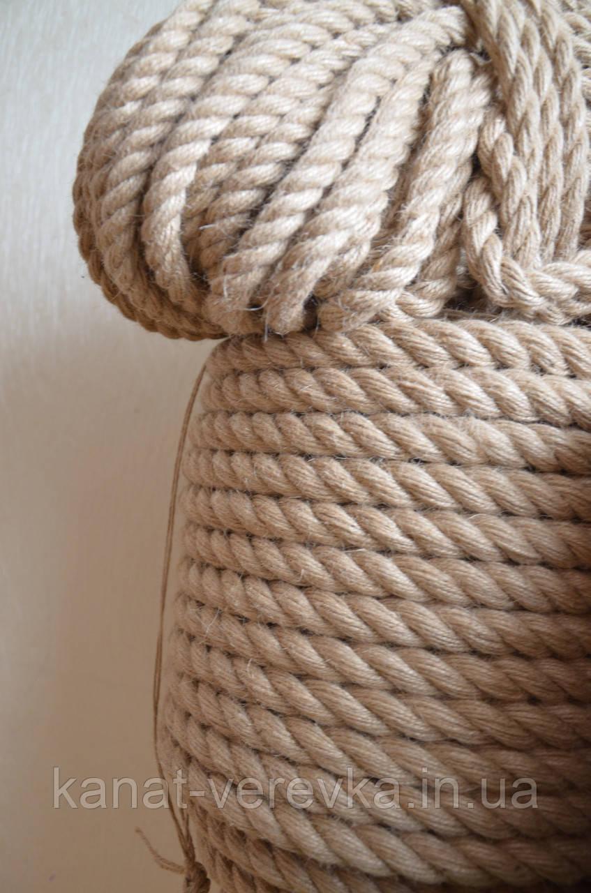 Канат джутовий 26 мм. (мотузка джутова)