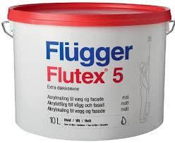 Краска Flügger Flutex 5 / Флюгер Флютекс 5, матовая, акриловая краска vit 10,0.