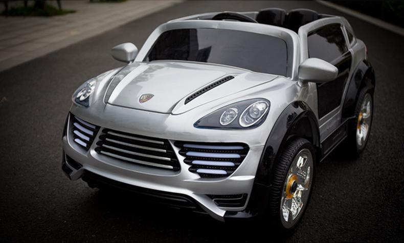 Детский Электромобиль Porsche Ceyenne M 2735 EBLRS-11 серебро, мягкое сиденье, автопокраска, колеса EVA