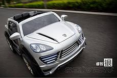Детский Электромобиль Porsche Ceyenne M 2735 EBLRS-11 серебро, мягкое сиденье, автопокраска, колеса EVA, фото 2