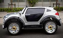 Детский Электромобиль Porsche Ceyenne M 2735 EBLRS-11 серебро, мягкое сиденье, автопокраска, колеса EVA, фото 3