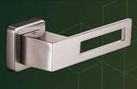 Ручка  дверная  500020-303 mp08, kare WC (квадрат WC), нерж.сталь