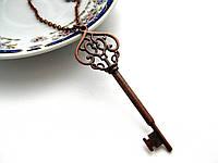 Ключик на цепочке, подвеска ключ для влюбленных, кулон ключик от сердца