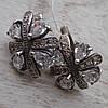 Шикарные серебряные серьги со вставками из прозрачного фианита