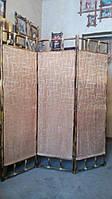 Ширма из бамбука 170х150см (коричневая в разводах)
