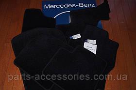 Коврики велюровые черные на три ряда Mercedes GL Class X164 2006-2012 новые оригинальные