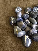 Руны из камня, 25 символов. Голубой кварц (L)