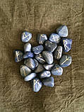 Руны из камня, 25 символов. Голубой кварц, фото 2
