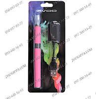 Электронная сигарета Evod MT3 Pink, EC-004, розовая сигарета, аккумулятор 1100 mAh, бросаем курить