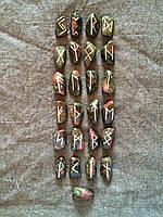 Набор рун для гадания, 25 символов (L). Унакит. Premium Quality.