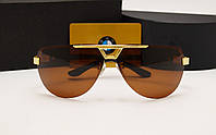 Мужские солнцезащитные очки BMW 81009 цвет золото