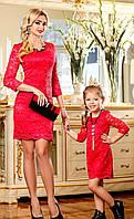 Красивое гипюровое платье для девочки