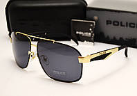 Мужские солнцезащитные очки Police  6814 цвет черный с золотом