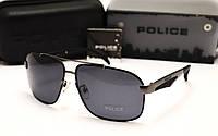 Мужские солнцезащитные очки Police  6814 цвет черный с серым