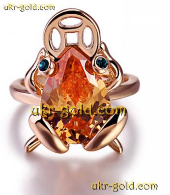 Золотая Лягушка с монеткой-символ богатства