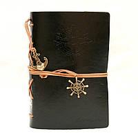 Винтажный стильный блокнот Aventura морская тематика (черный)