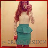 """Платье """"Баска-Gabosh"""" цвет комбинированый (молочный+бирюза)"""