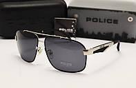 Мужские солнцезащитные очки Police  6814 цвет черный с серебром
