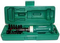 Набор ударных отверток SL 5, 6, 8, 10, 12 мм, PH# 1, 2, 3, 4, Hex 4, 5, 6, 8, 14 предметов  Jonnnesway AG010138
