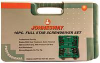 "Набор отверток шлиц и крест "" FULL STAR"" SL 2х50-8х150 PH#1-3, 16 предметов  Jonnnesway D04PP16S"