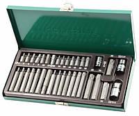 """Набор вставок 4-12 мм, Т20-Т70, """"30,75 мм"""" 3/8""""DR и 1/2""""DR, 35 предметов  Jonnnesway S29H4135S"""