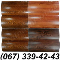 Сайдинг металлический блок-хаус, бревно Сосна, Светлый дуб, Темный дуб (шир. 35 см)