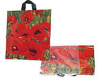 Пакет цветные с ручками (цветы-фрукты) (25-50 шт. в уп.) 37х43 цена за 1 шт.