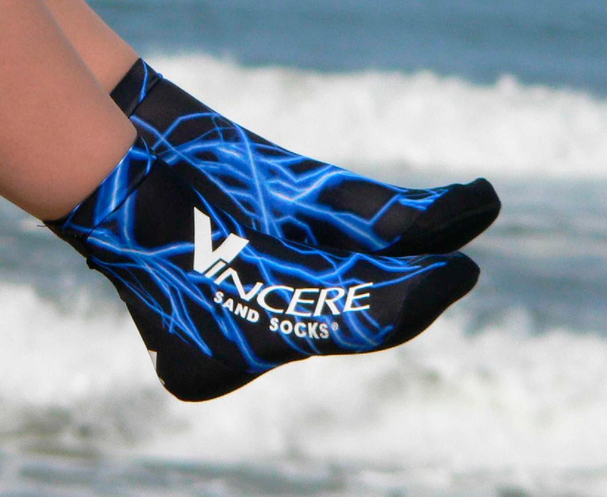 Носки для пляжного волейбола Vincere Socks Blue Lightning Sand