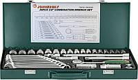 """Набор торцевых головок 3/8""""DR 6-22 мм и комбинированных ключей 7-17 мм, 36 предметов  Jonnnesway S04H3536S"""