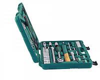 """Универсальный набор торцевых головок 1/4""""DR 6-13 мм и 1/2""""DR 12-24 мм, комбинированных ключей 8-17 мм и отверток, 60 предметов  Jonnnesway S04H52460S"""