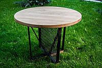 """Стол из массива дерева круглый модель """"V"""" для бара, кафе, ресторана, дома, фото 1"""