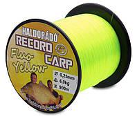 Леска HALDORÁDÓ RECORD CARP FLUO YELLOW 0,20 MM / 900 M