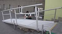 Металлический пандус для инвалидов чертеж