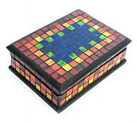 Шкатулка для украшений радуга мозаичная 18Х13Х5,5 см