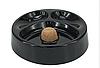 Пепельница для 2 трубок 41204 (0200220), стекло/черный глянец, круглая