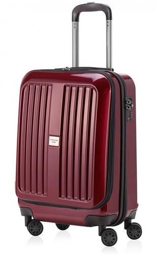 Дорожный малый пластиковый чемодан 45 л. HAUPTSTADTKOFFER xberg mini red красный