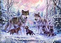 Набор алмазной вышивки Волки в лесу KLN 40 х 30 см (арт. FS028)