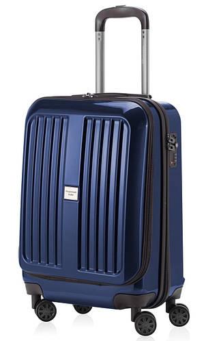 Синий малый чемодан из пластика 45 л. HAUPTSTADTKOFFER xberg mini blue