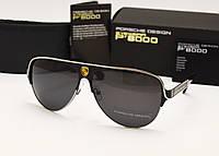 Мужские солнцезащитные очки Porsche Design 8580 цвет черный с серебром