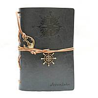 Винтажный стильный блокнот Aventura морская тематика (темно-серый)