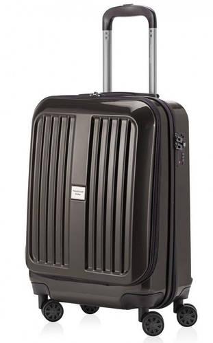 Малый пластиковый практичный чемодан 45 л. HAUPTSTADTKOFFER xberg mini graphite графитовый